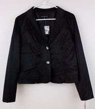 NWT Cynthia Rowley Jacket Blazer 2 Button Coat Shimmering Black Women's ... - $26.45