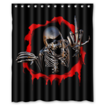 Skull #01 Shower Curtain Waterproof Made From Polyeste - $31.26+