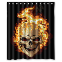 Skull #05 Shower Curtain Waterproof Made From Polyeste - $31.26+