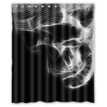 Skull #06 Shower Curtain Waterproof Made From Polyeste - $31.26+