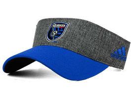 Adidas MLS Team Soccer Club Visor Adjustable One Size San Jose Quakes - £14.46 GBP