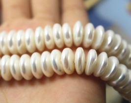 12 mm South Sea Shell Pearls Rondelle Beads,Abacus shell pearl beads,15 ... - $16.80