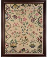 Sidney Gregg 1812 Reproduction Sampler cross stitch chart Cherished Stit... - $12.60