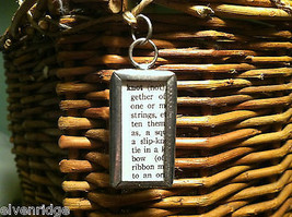 2 Sided Charm Tag Versatile Metal Glass- picture of Nautical Knots w/ Definition image 3