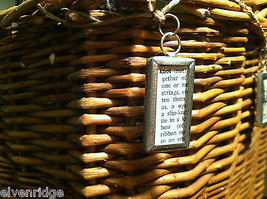 2 Sided Charm Tag Versatile Metal Glass- picture of Nautical Knots w/ Definition image 4