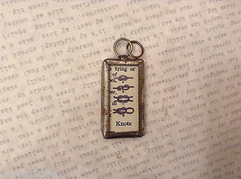 2 Sided Charm Tag Versatile Metal Glass- picture of Nautical Knots w/ Definition image 5