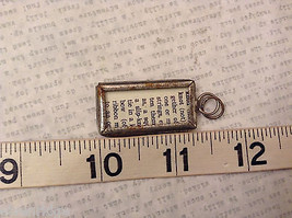 2 Sided Charm Tag Versatile Metal Glass- picture of Nautical Knots w/ Definition image 7
