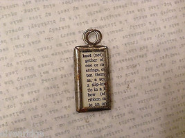 2 Sided Charm Tag Versatile Metal Glass- picture of Nautical Knots w/ Definition image 6