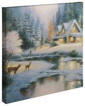 "Thomas Kinkade Wrap - Deer Creek Cottage – 20"" x 20"" Wrapped Canvas - $155.00"