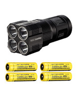 Bundle: Nitecore TM26GT Flashlight CREE XP-L HI V3 LED w 4x NL...