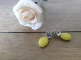 J crew Women's Yellow Stone Drop Earrings - $17.81