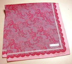 GIVENCHY handkerchief scarf bandanna Pink Cotto... - $29.69