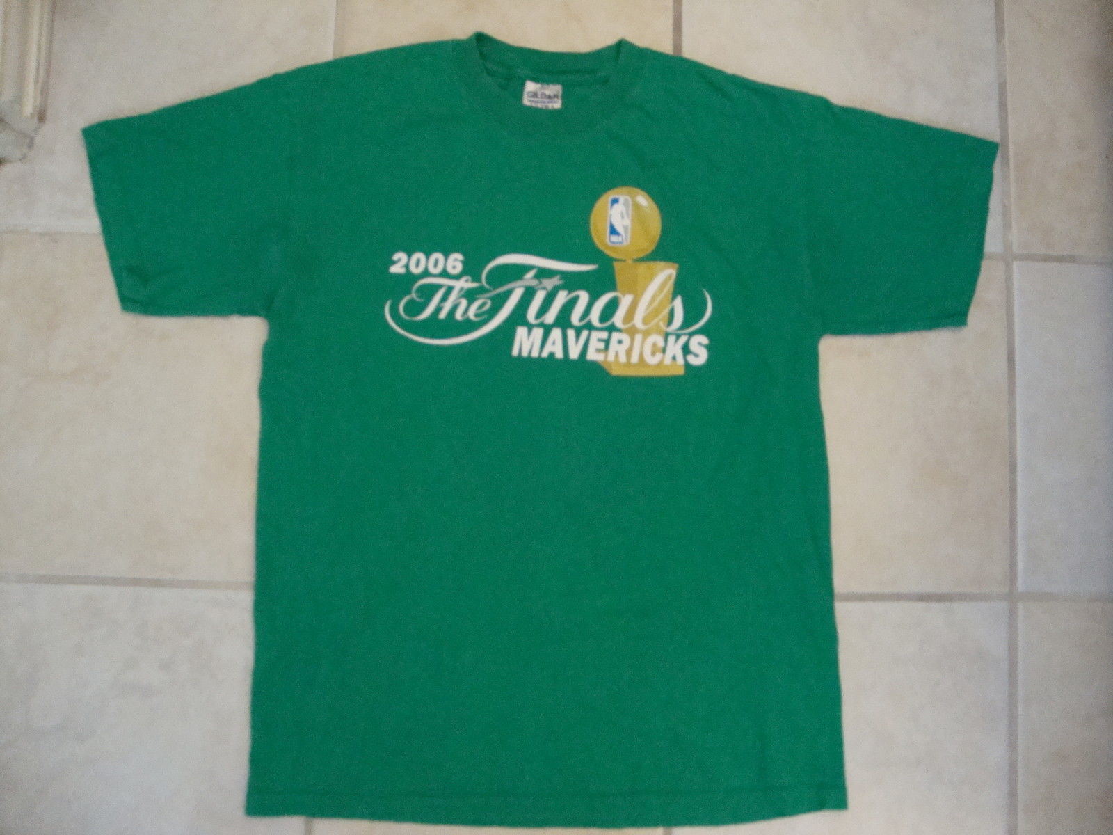 NBA Dallas Mavericks 2006 Finals green T Shirt M