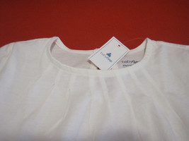 Gap Baby Girls Tee Top  Sz 4 Off White Pleated Short Sleeve 100% Cotton New image 2
