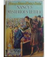 Nancy Drew #8 NANCY'S MYSTERIOUS LETTER hcdj 1940A-26 Carolyn Keene VERY... - $100.00
