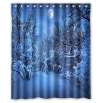 Snow #01 Shower Curtain Waterproof Made From Polyester - $31.26+