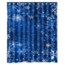 Snowflakes Bright Texture Winter #01 Shower Curtain Waterproof Made From Polyest - $31.26+