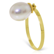 Brand New 4 Carat 14K Solid Gold Ring Dangling Natural pearl - $132.35