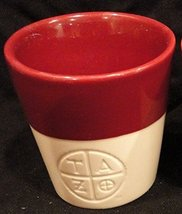 Starbucks TAZO Tea 8 oz 2011 Tea Cup Coffee Mug Burgundy, Maroon & White - $22.72