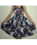NEW Handmade VHTF Spiderman Blue Halter Dress Custom Sz 12M-14Yrs - $59.98