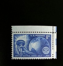 1955 8c Rotary International, 50th Anniversary Scott 1066 Mint F/VF NH - $0.99