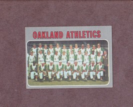 1970 Topps # 631 Oakland Athletics Team Card - $3.99