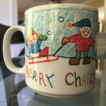 Merry Chrismas to my Teacher ceramic mug coffee cup Christmas - $14.99
