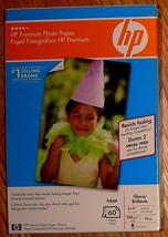 """HP Premium Glossy Photo Paper 4"""" x 6"""""""" ~ 60 Sheet Pack - $10.00"""