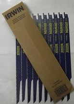 """Irwin 372156B10 12"""" x 6 TPI Bi-metal Wood Cutting Reciprocating Saw Blades 10-Pk - $18.50"""