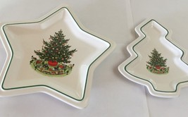 2 PFALTZGRAFF DISHES STAR & TREE SHAPED~SERVING DISHES PLATTERS~LOT OF 2... - $9.79