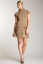 Calvin Klein Brown Turtleneck Pocket Dress Size Small NWT $138 - $66.95