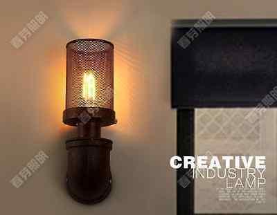 Vintage Mesh Pipe Single Sconce E27 Light Wall Lamp Home Lighting Fixtures Loft