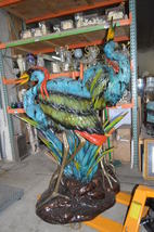 """Two colored Herons fountain -  Size: 53""""L x 40""""W x 88""""H. - $11,900.00"""