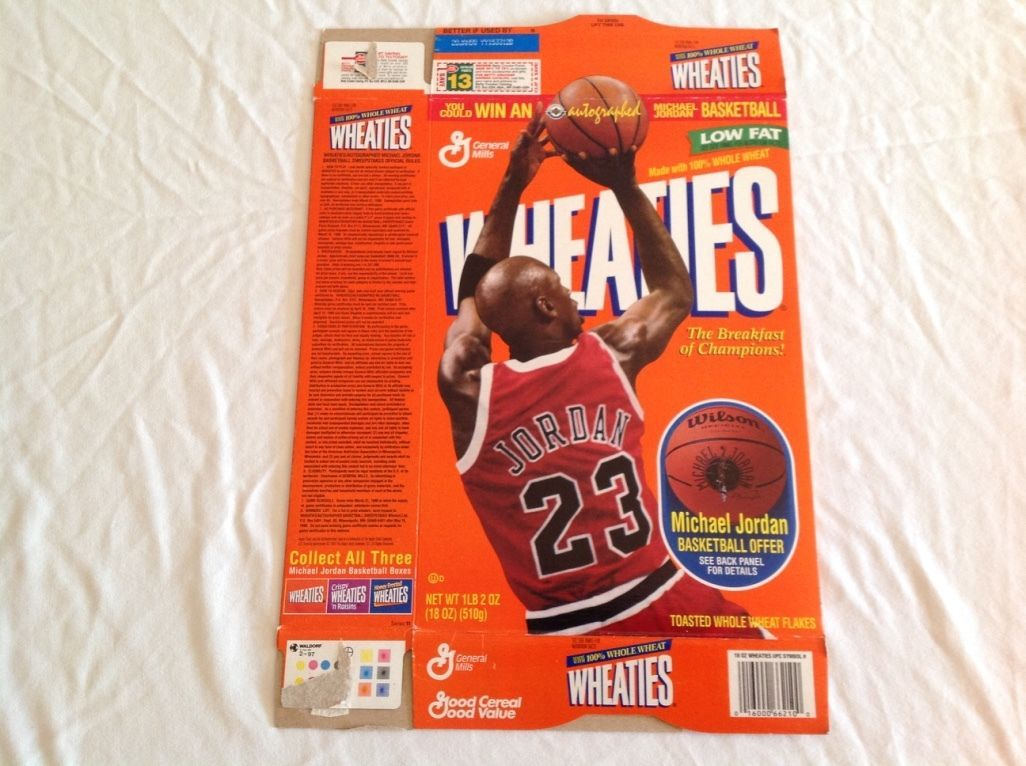 Vintage General Mills Wheaties NBA Michael Jordan Collectible Cereal Box - $49.49 & Kellogg Cereal Box (2010s): 0 listings Aboutintivar.Com