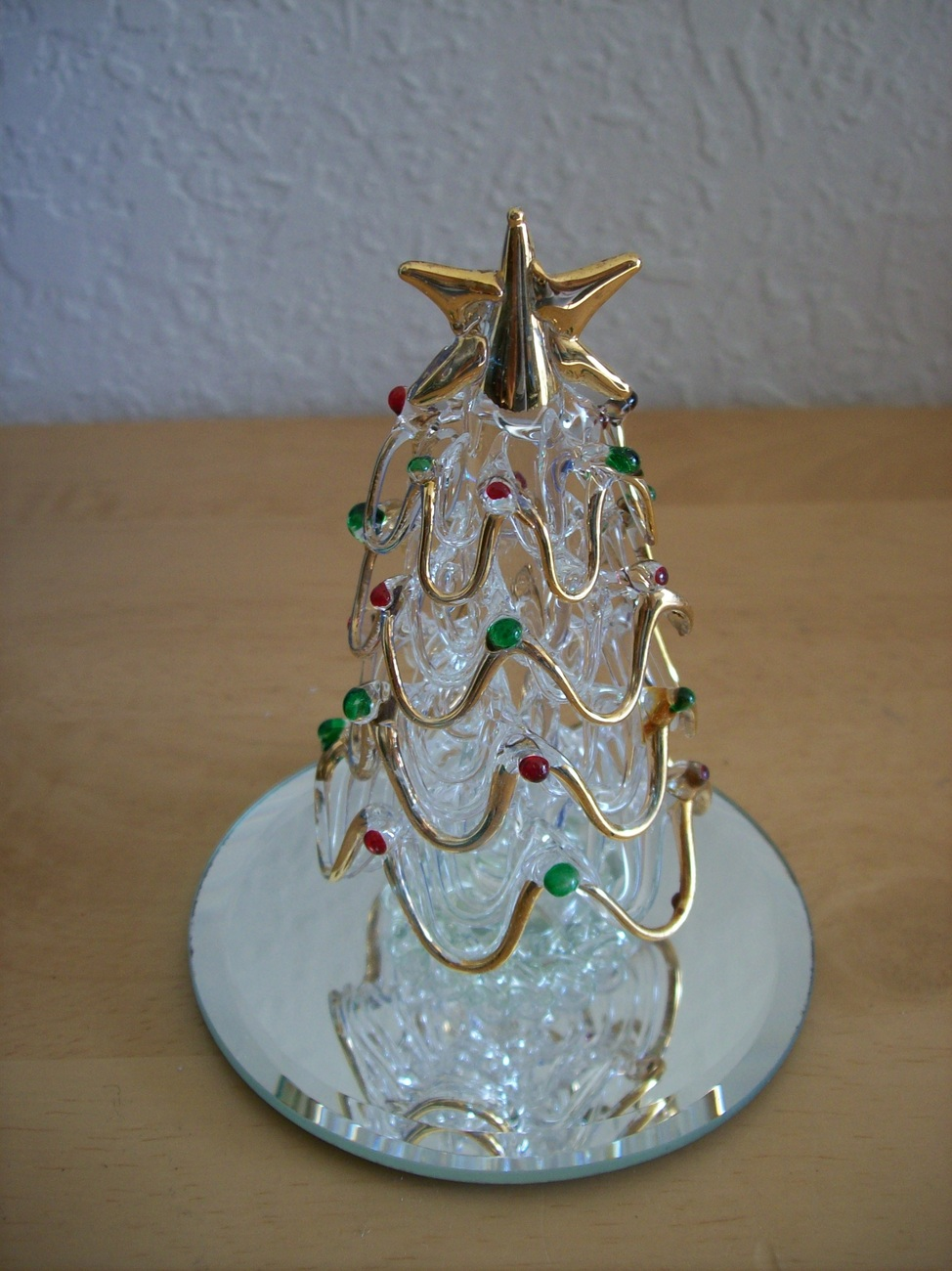 Spun Glass Christmas Tree Figurine