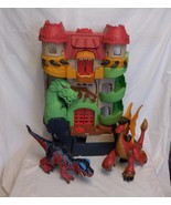 Fisher Price Imaginext dragon world castle fortress + Dinosaur T Rex + R... - $43.22