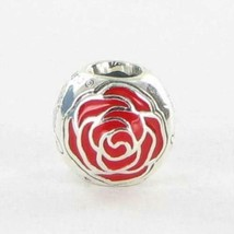Pandora 791575EN09 Charm Bead Belle Enchanted Rose Red Enamel 925 New $70 - $51.40