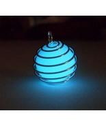 GLOW IN THE DARK Spiral Silver Caged Materia Magic Orb Charm Pendant Nec... - $14.00