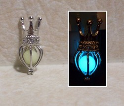 GLOW IN THE DARK Crowned Cage Queen Princess King Locket Charm Pendant N... - $14.50