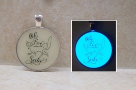 OH FOR FOX SAKE Glow in the Dark Funny Witty Quote Pendant Charm Animal ... - $14.50