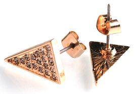 Jules Smith Gold Cubic Zirkonia Kristall Pflastern Länglich Dreieck Ohrstecker image 4