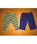 Lot of 2 Baby Boys Carter's Blue and Green Sweatpants Pants Size 6 Month... - $5.93