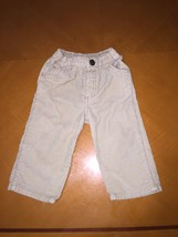 Baby Boys Toddlers Old Navy Beige Khaki Corduroy Pants Size 12-18 Months Cotton - $4.94