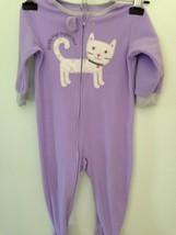 Baby Girls Toddlers Kids Carter's Purple PAJAMAS PJs Fleece Size 18 Mont... - $4.94