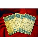 """Vintage Transogram """"Gold Medal"""" Bingo Cards Lot of 12 - $8.00"""