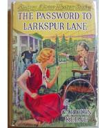 Nancy Drew THE PASSWORD TO LARKSPUR LANE #10 hcdj 1940A-15 Carolyn Keene... - $78.00