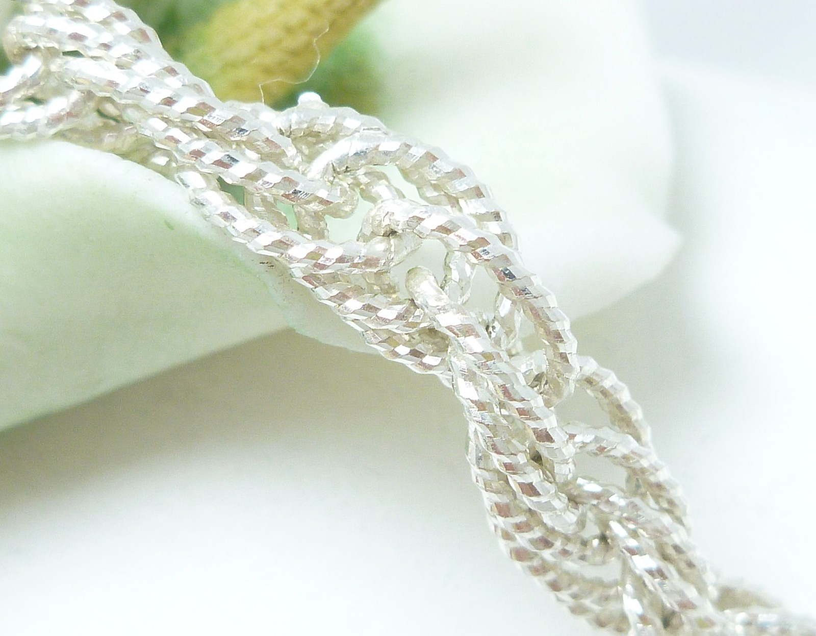 "Sterling Silver Brillianza 7"" Twisted Rope Bracelet 9.2g"