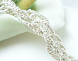 "Sterling Silver Brillianza 7"" Twisted Rope Bracelet 9.2g - $59.00"