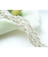 """Sterling Silver Brillianza 7"""" Twisted Rope Bracelet 9.2g - $59.00"""