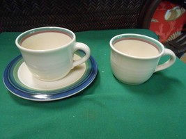 """Great Collectible Pfaltzgraff """"Ocean Breeze""""....Cup & Saucer & 1 Free Cup - $6.64"""